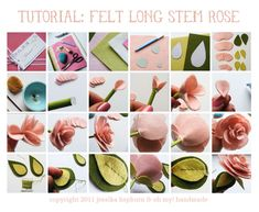 tutorial fotos rosa fieltro