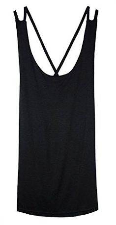 Womdee Women Sexy Open Back Strap Tank Tops Camisole With Womdee Accessory