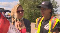 #CANADA #SWD #GREEN2STAY Women walk from Winnipeg to Regina to spread awareness about MMIW 3 women have been walking 550 kilometres CBC News Posted: Aug 04, 2016 4:25 PM CT Star Andreas (left) and Kim Kostiuk-Laporte are part of a group of three women walking from Winnipeg to Regina to raise awareness for missing and murdered Indigenous women. (CBC News )