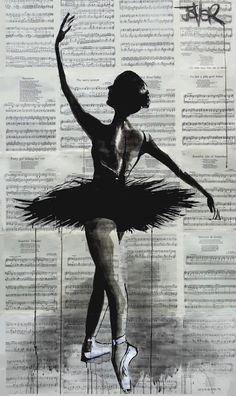 Tutu by Loui Jover. Ballerina Drawing, Ballet Drawings, Art Drawings, Ballet Painting, Ballet Art, Bailarina Vintage, Crayons Pastel, Newspaper Art, Ballet Poses