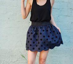 Simply stunning scalloped skirt.
