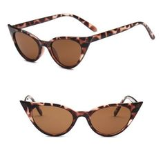 14645d4fd8 2018-Women-Vintage-Cateye-Mirrored-Sunglasses-Trendy-Retro -Fashion-Shade-Glasses