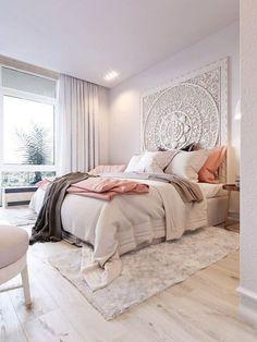Modern bohemian bedroom decor ideas (49)