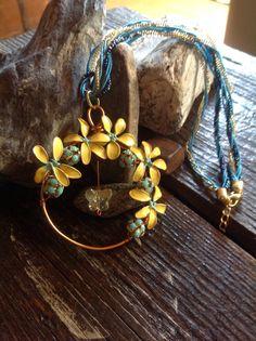 Pretty yellow flower power $25.00