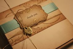 Regal Baroque Thank You Cards Gold Embossed Set by anistadesigns, $35.00