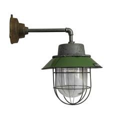 kocser wall light green | Lights | 360volt. The biggest collection vintage industrial lighting. Specialized in factory, enamel and industrial lamps. Available on 360volt.com