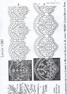 Risultati immagini per bobbin lace patterns free Lace Embroidery, Embroidery Patterns, Bobbin Lacemaking, Bobbin Lace Patterns, Quilt Border, Point Lace, Crochet Borders, Lace Making, Irish Crochet
