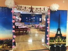 """Bonjour"" Banner I made for a Night in Paris themed Father/Daughter dance!"