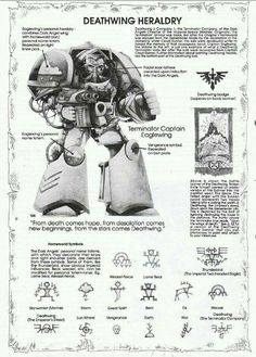 In the grim future, there is only war. Warhammer 40k Art, Warhammer 40k Miniatures, Warhammer Fantasy, Warhammer Games, Fantasy Fiction, Sci Fi Fantasy, Dark Angels 40k, 40k Armies, Dark Wings