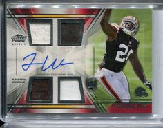 Terrence West 2014 Topps Prime Rookie Card  Auto Quad 4x Jersey  Rookie RC