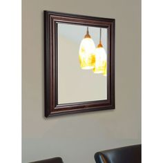 American Made Rayne Dark Walnut Wall Mirror (20.5 x 24.5)