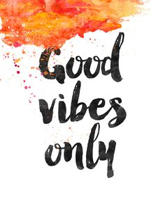 Good Vibes Only orange juice Art Print by MaximusType