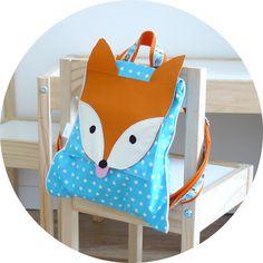 Le sac à dos renard pour une première rentrée faire le meme modèle que les sacs à dos ronds panda...