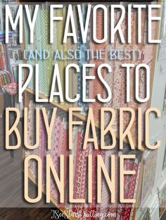 BEST Places To Buy Fabric Online! The BEST Places To Buy Fabric Online! These are my favorite go-to shops where is spend all my money! :)The BEST Places To Buy Fabric Online! These are my favorite go-to shops where is spend all my money! Sewing Hacks, Sewing Tutorials, Sewing Crafts, Sewing Tips, Sewing Ideas, Sewing Patterns Free, Free Sewing, Quilt Patterns, Buy Fabric Online