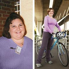 Inspiring weight loss stories from the women of Shape Magazine. This lady lost 190 lbs! They each share a tip for healthy eating or lifestyle changes they made to get fit.