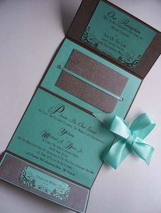 wedding invite idea but with chocolate brown an gold!
