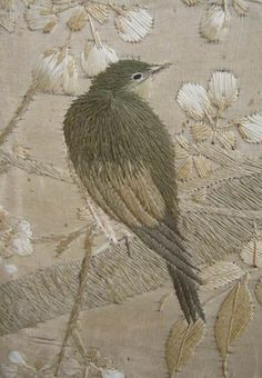 beautiful needlework bird