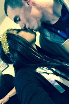 Beautiful interracial couple sharing a kiss #love #wmbw #bwwm