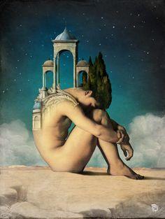 """""""Dreamer"""" by Christian Schloe..Chiara Anna..Per lei la notte..era un volo nell'anima..cercava nel suo silenzio di illuminarla  con il suo cuore...e farla viaggiare .nei castelli incantati della sua fantasia."""