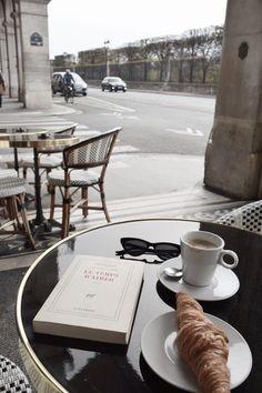 Rue de Rivoli Cafe Breakfast Croissant Coffee France Morning Routine Paris Brunch Self Care Brunch, Coffee And Books, Coffee Cafe, Coffee 21, Coffee Pics, Coffee Enema, Coffee Corner, Coffee Creamer, Coffee Break