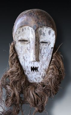 Large Bwami-mask of the the Lega (Rega)-people, Congo