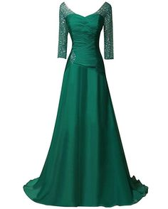 Cheap emerald green evening dress, Buy Quality evening dresses long directly from China evening dress Suppliers: Vestido Festa Longo Noite Casamento 2017 Emerald Green Evening Dress Long Chiffon Prom Dresses with Sleeves