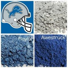 Detroit Lions - Younique Eye Shadow available through http://www.youniqueexpressionsbyholly.com