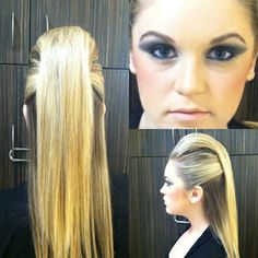 Hair pull back with bouffant via bloom.com