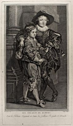DANZEL, Jacques Claude (after P.P. Rubens) (1735-1809) / Two children of Rubens / engraving