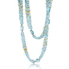 Verdura Raja Necklace    Aquamarine and gold.  Raja Necklaces are each unique by design; materials and prices may vary.