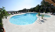 Hotel Balocco - Porto Cervo dettaglio nostra piscina, immagine grandangolare  detail of our swimming pool, wide angle image