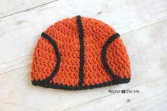 Crochet Patterns Hat Crochet Basketball Hat Pattern – Repeat Crafter Me Crochet Kids Hats, Crochet For Boys, Crochet Gifts, Free Crochet, Baby Patterns, Knitting Patterns, Crochet Patterns, Crochet Ideas, Mens Crochet Beanie