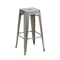 Reproduction of Xavier Pauchard Tolix Style Counter Stool 66cm - Brushed Transparent | GFURN