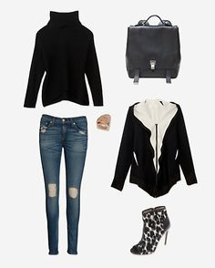 Styling a zip cardigan from intermix.com