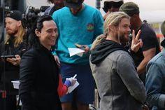 First Look At Chris Hemsworth & Tom Hiddleston Filming THOR: RAGNAROK In Unexpected Threads