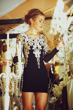 Outstanding Embroidered Mini Dress For Weddings And Love This Earrings