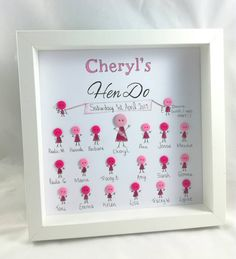 Hen Party gift Hen do gifts button frame gift personalised gifts for her bride to be wedding Hen Party Presents, Hen Party Gifts, Hen Night Ideas, Hen Ideas, Hens Party Invitations, Party Favours, Party Bags, Classy Hen Party, Party Frame