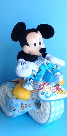 Mickey Mouse Tricycle  Mickey Mouse Diaper by PamperedBabyCreation, $90.00