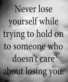 It doesn't matter the circumstances holding on when they have let go and moved on only holds you back....