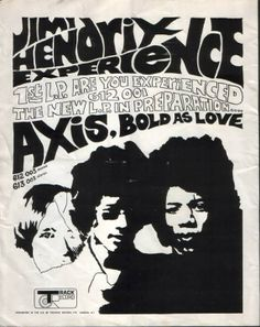 Jimi Hendrix - Promo Ad by Track Records UK for coming Axis ...LP