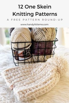 One skein knitting projects - Knit/Crochet Projects - One skein knitting projects Knit a last-minute gift if you are short on time with one of these free patterns. Each of these easy knitting patterns can be completed with only one skein of yarn. Beginner Knitting Projects, Sweater Knitting Patterns, Knitting For Beginners, Knitting Socks, Knitting Stitches, Free Knitting, Baby Knitting, Knitted Hats, Crochet Mens Hat Pattern