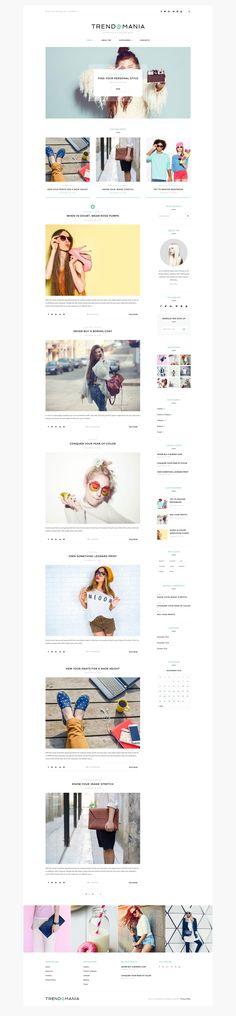 WordPress Template , Trendomania - Lifestyle