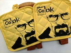 Pot Holders - Breaking Bad - Heisenberg Walter White - Yellow and Black - Hot Pads Pot holder Kitchenware - Kitchen decor - Cooking - Baking...