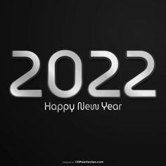 Free Happy New Year 2022 Black Background