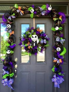 Nightmare before Christmas garland and wreath