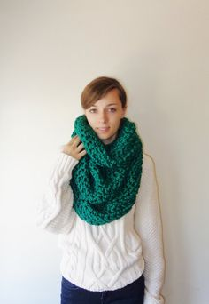 The+Flemish+Giant+//+Chunky+Knit+Infinity+by+TheMadRabbitShoppe,+$85.00