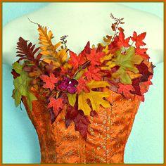 SALE Autumn Woodland Fairy Corset adult size by FairyNanaLand