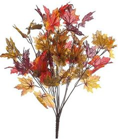 Factory Direct Craft Set of 3 Autumn Artificial Silk Floral Bushes with Multiple Fall Colored Maple Leaves -- Check this awesome product by going to the link at the image.