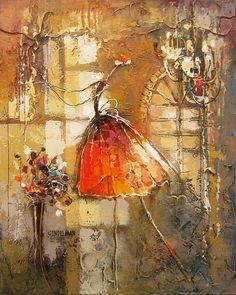 Avec grâce 4 par Irene Gendelman, artiste présentement exposé aux Galeries Beauchamp. www.galeriesbeauchamp.com