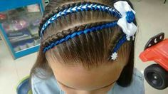 Girl Hair Dos, My Hair, Girl Hairstyles, Braids, Hair Beauty, Hair Styles, Little Girl Hairdos, Girls, Braided Updo